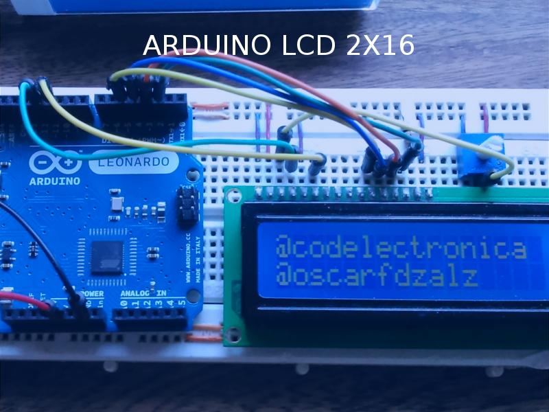 Arduino lcd código electrónica