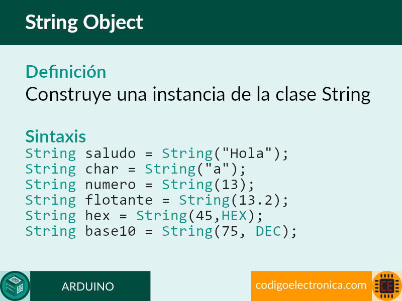 arduino string object