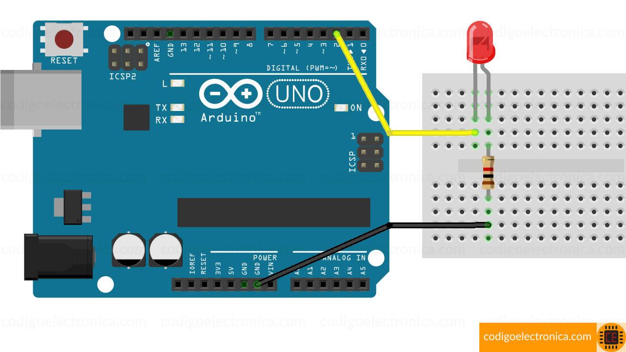Arduino blink breadboard