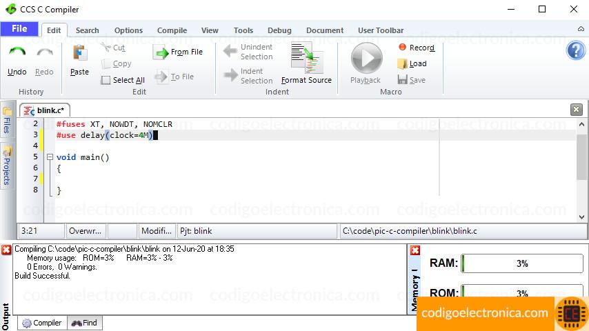Prueba del compilador