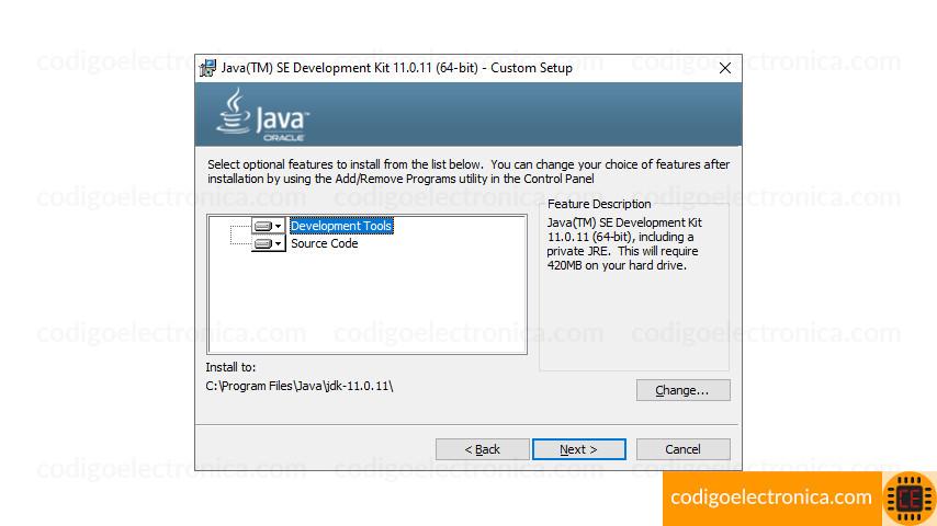 Personalizar configuración jdk 11