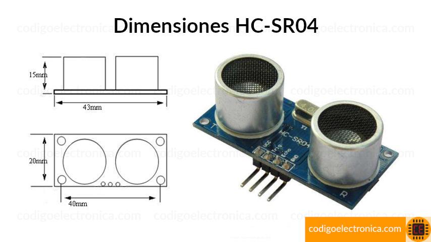 Dimensiones hcsr04