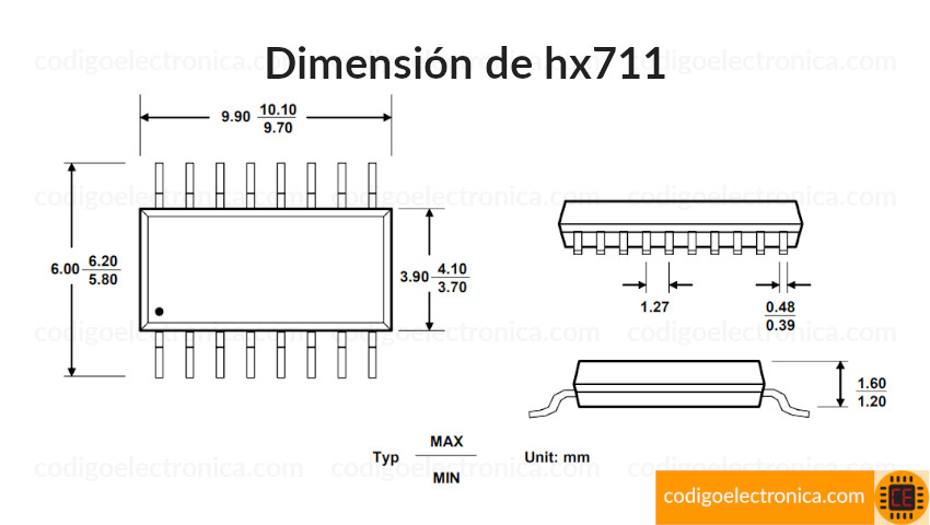 hx711 dimensión
