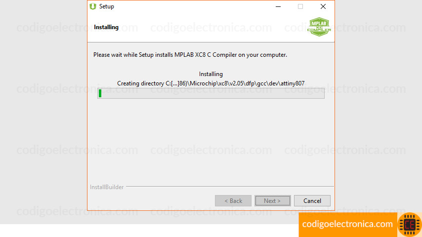 Instalando archivos