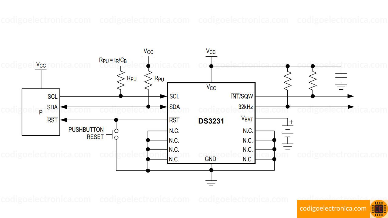 DS3231 circuito