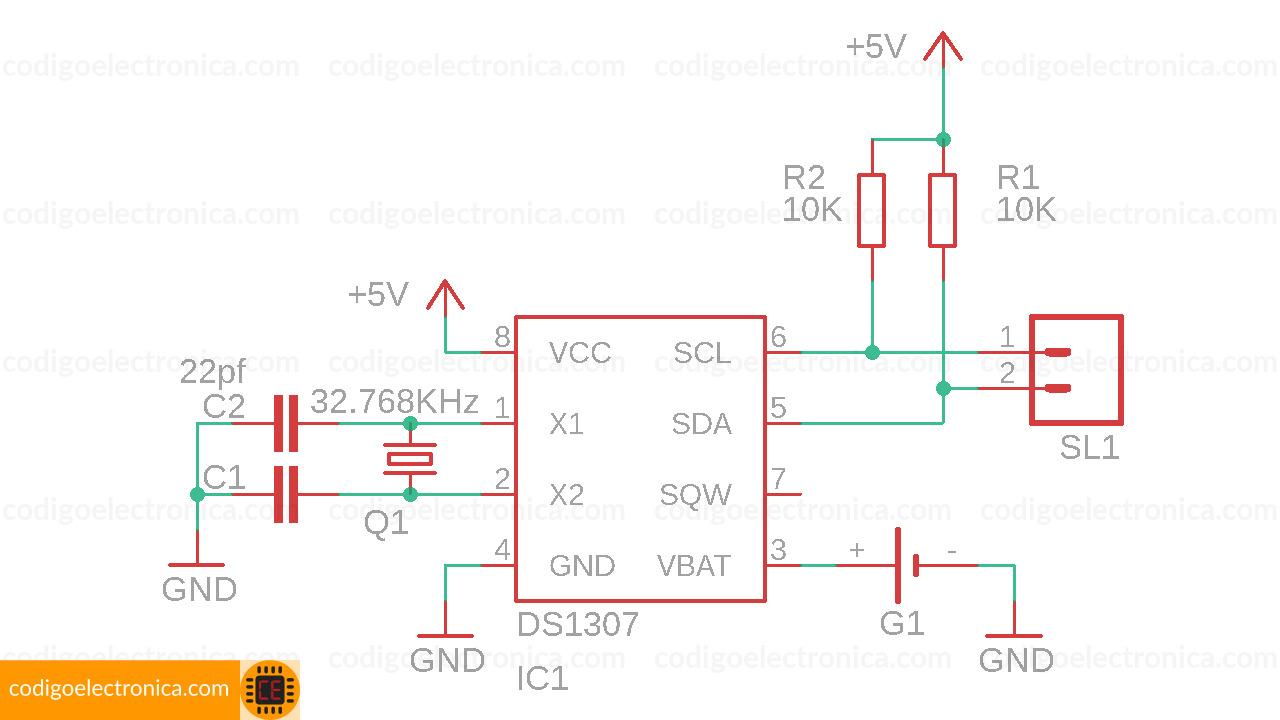 RTC DS1307 circuito