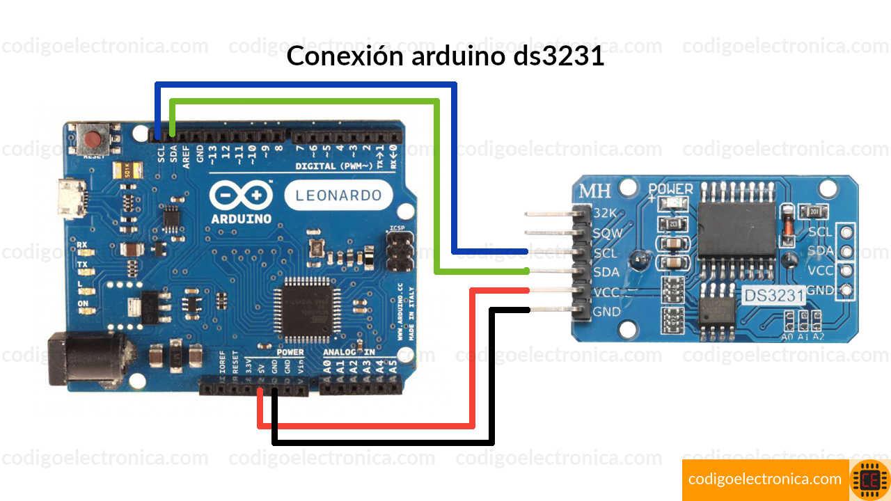 Conexión DS3231