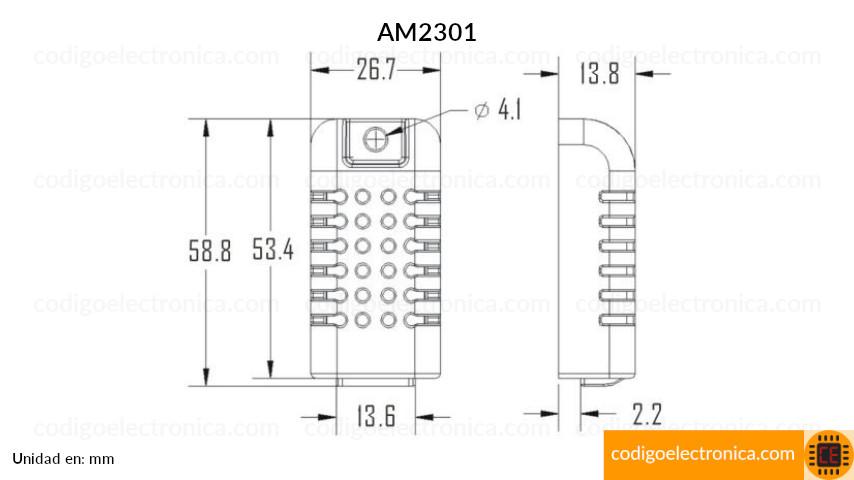 AM2301 dimenciones
