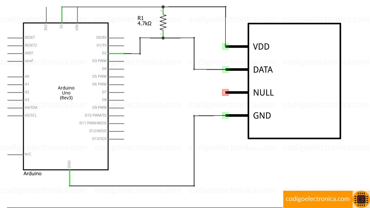 Conexión DHT11 schem