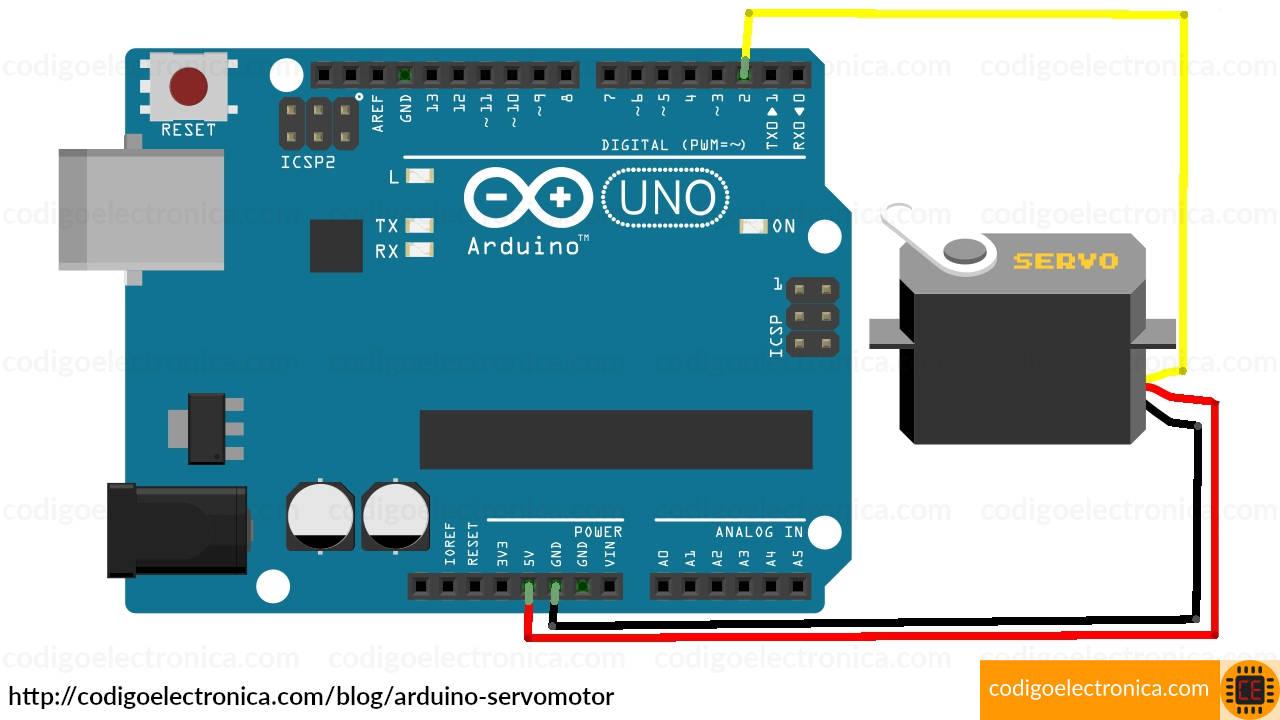 Arduino servomotor breadboard