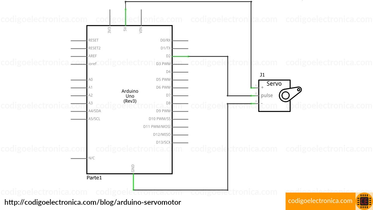 Arduino servomotor circuito