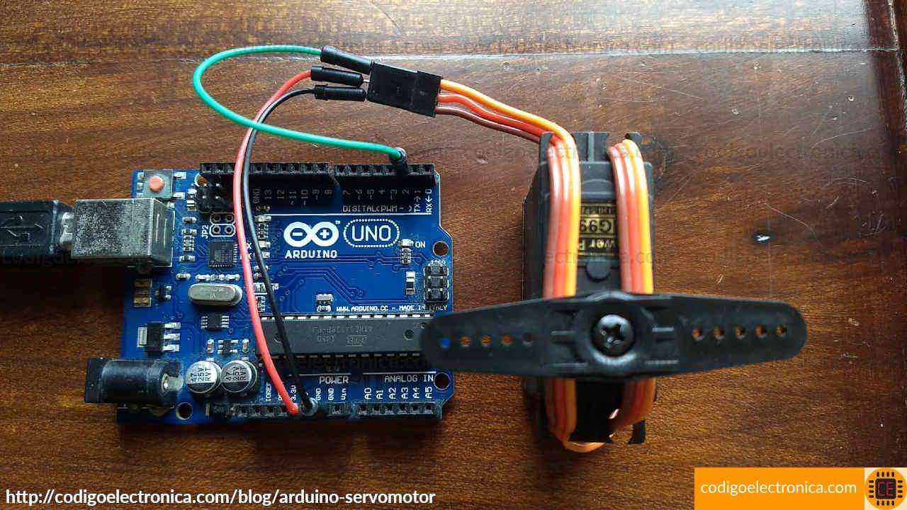 Arduino servomotor foto