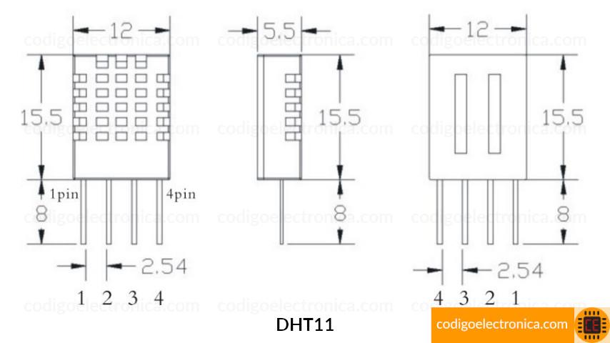 Dimenciones DHT11