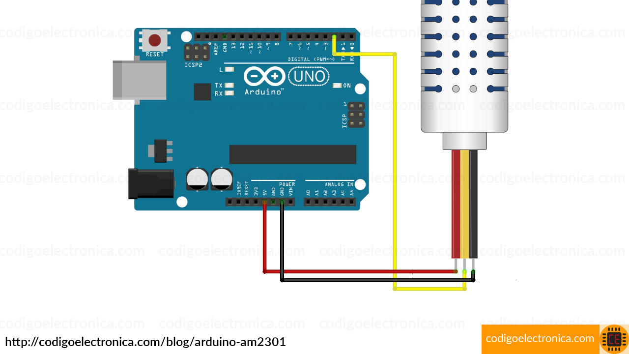 Arduino AM2301 breadboard