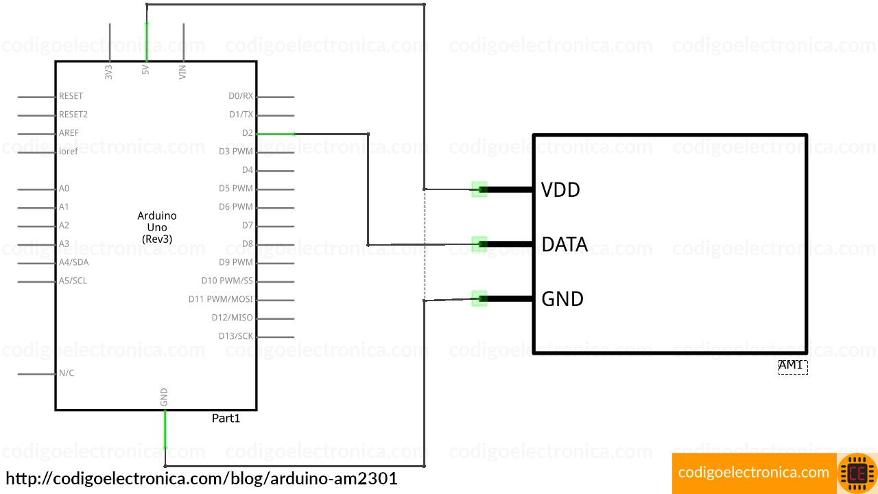 Arduino AM2301 schem