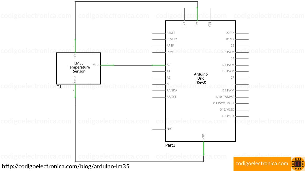 Arduino lm35 schem