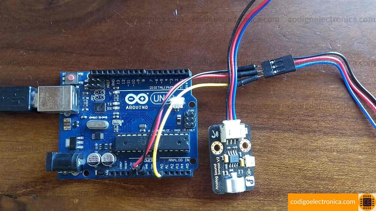 Foto del sensor de sonido