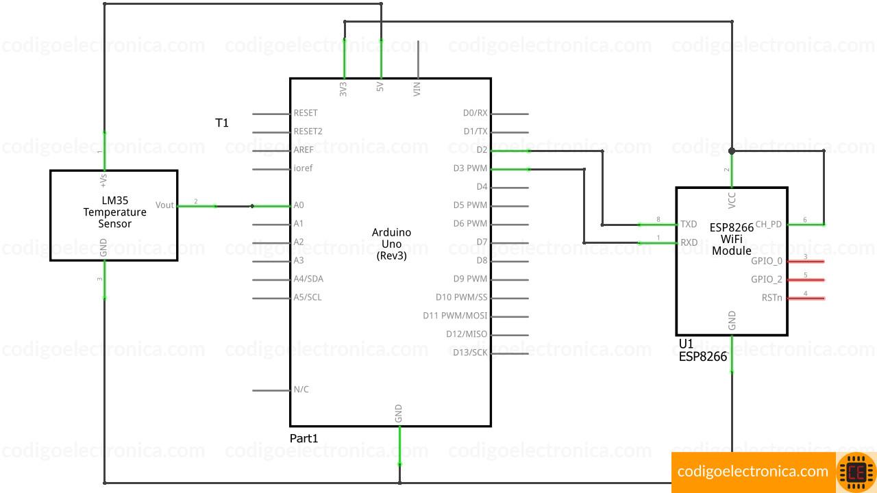 Arduino ESP8266 temperatura schem