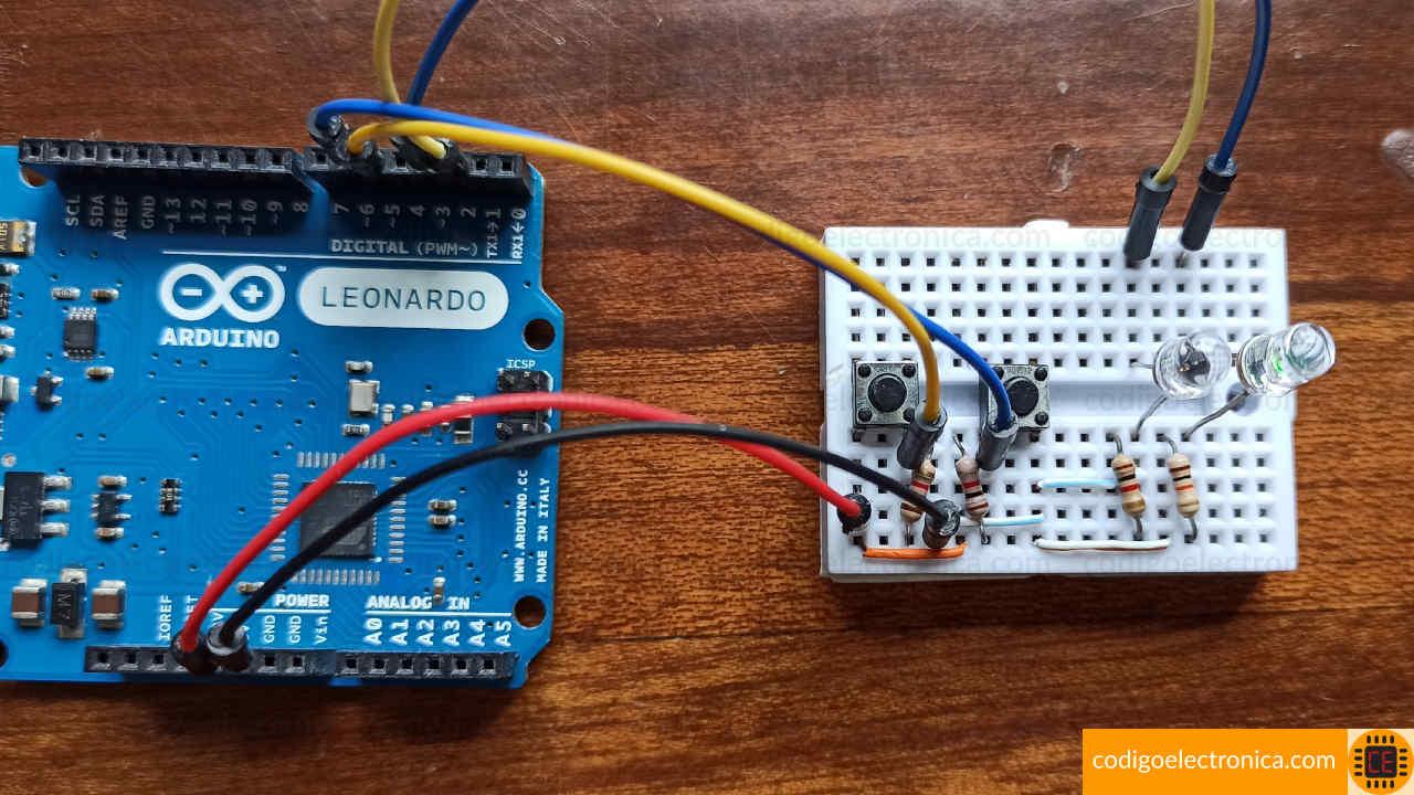 Arduino interruptores miniatura foto