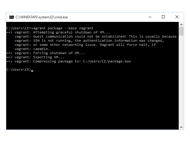 Crear package box con vagrant