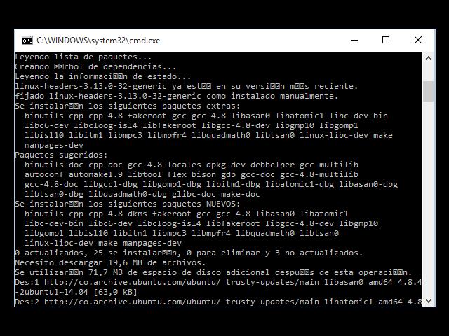 Actualización de paquetes en ubuntu server con vagrant