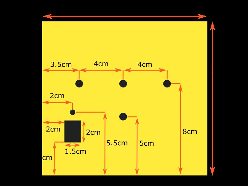 Medida de los agujeros y su distribución